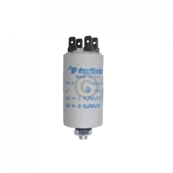 Europart Kondensator 8,00µF 450V Universal mit Steckfahnen und Befestigungsschraube