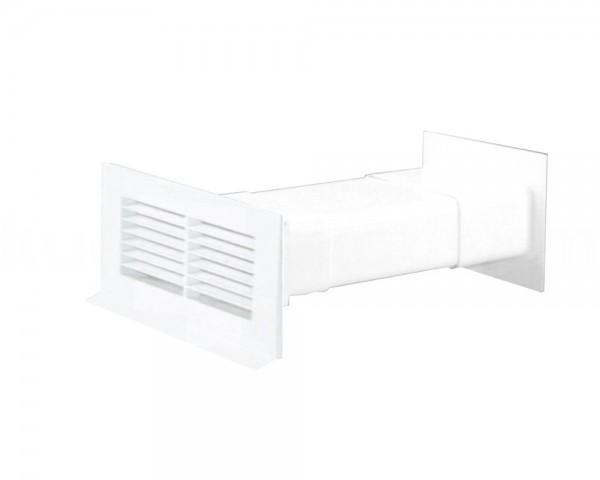 Mauerkasten 125 Soft mit Rückstauklappe teleskopierbar weiß