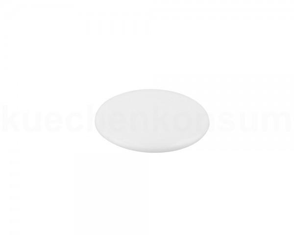 Abdeckkappe 12 mm weiß flach für Torx u AW Innensechsrund