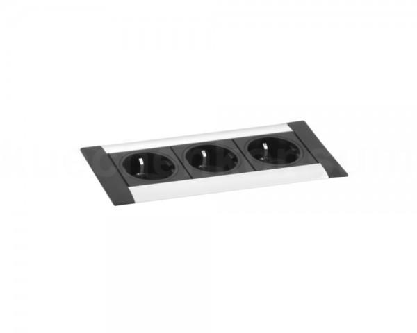 Schulte EVOline Frame Dock 00.002 Einbau Steckdose 3fach