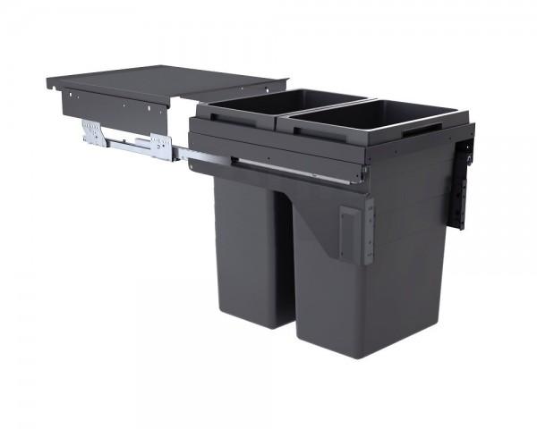 Hailo Abfallsammler 3619741 CE Slide Euro-Cargo 2x 38 Liter