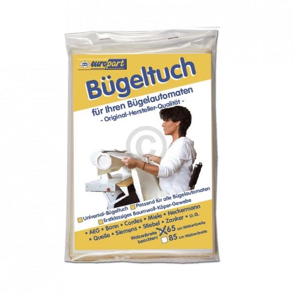 Universal Bügeltuch 307228 Walzbreite 65cm für Mangel Bügelautomat Heimbügler