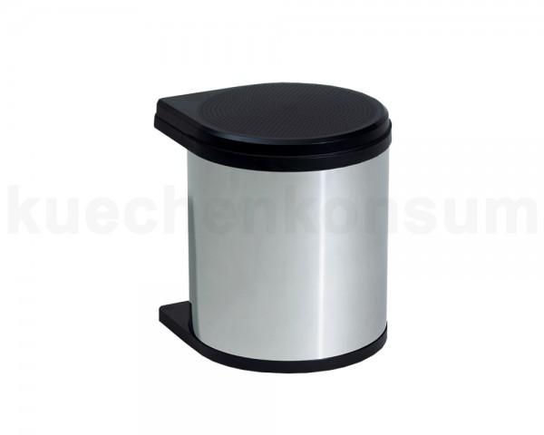 Hailo Abfallsammler 3512031 MO Swing bs Mono 12 Liter Edelstahl schwarz