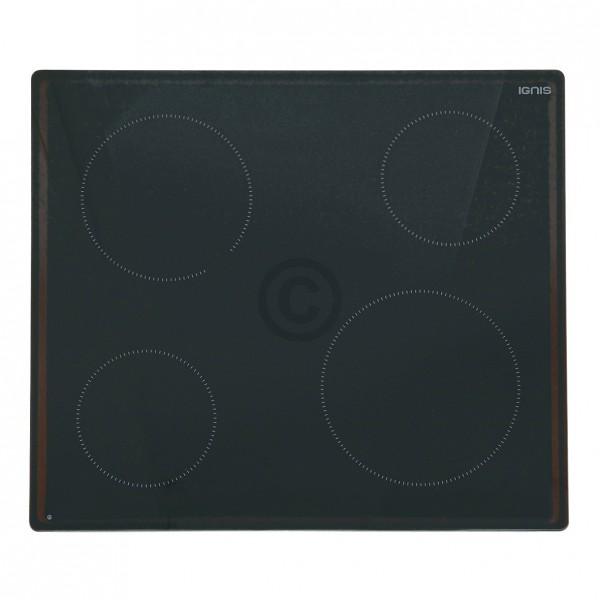 Whirlpool Glaskeramikplatte IGNIS 481010623706 für Kochfeld Herd