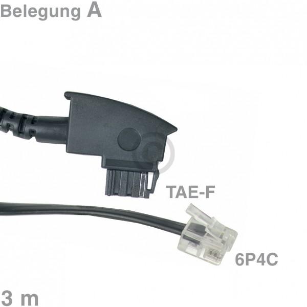 Europart Kabel Anschlusskabel TAE-F / 6P4C 3m