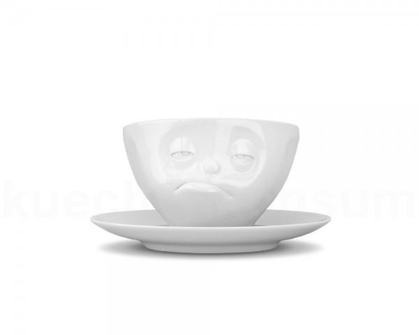 TV Tasse Kaffeetasse 46 Lecker mit Untertasse weiß