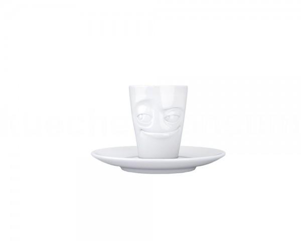TV Tasse Espresso Mug 11 verschmitzt weiß mit Henkel