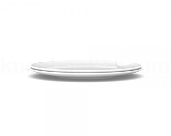 TV Tasse Kuchenteller 73 mittlerer Teller mit Biß rund 2er Set 20 cm weiß