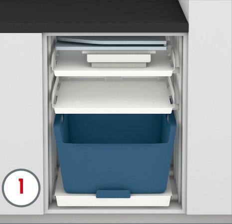 Hailo Wäscheschranksystem 3271000 Laundry Area LA Slide Einbau Set