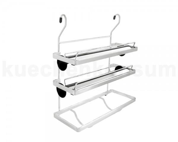 Linero Classic Rollenhalter Rollinero 3-etagig matt-verchromt 325 x 155 x 390 mm