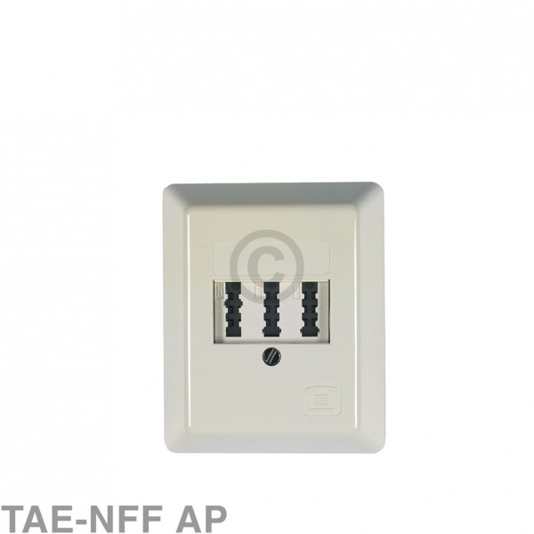 Europart Anschlussdose 3-fach TAE-NFF AP