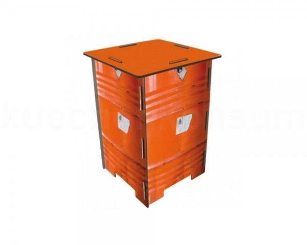 Werkhaus Photohocker SH8269 Ölfass orange 295 x 295 x 420 mm