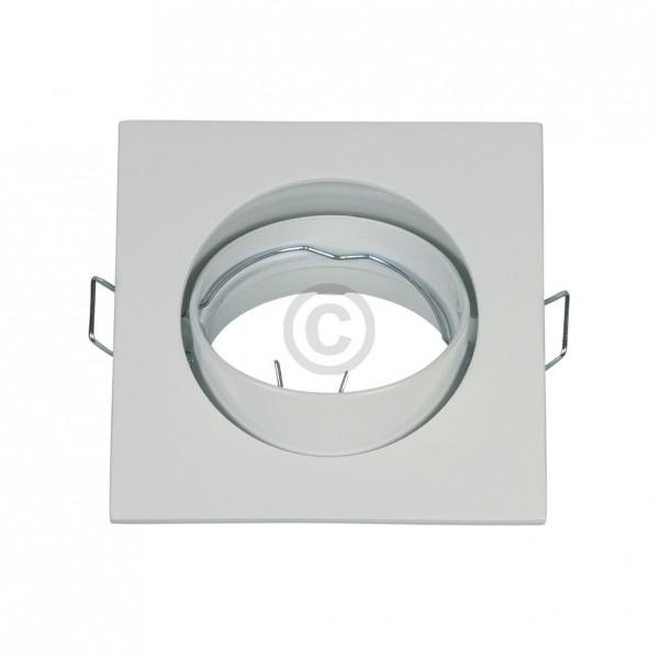 Europart Lampenhalter 82x82mm weiß Alu-Einbaustrahler schwenkbar Rutec 55391