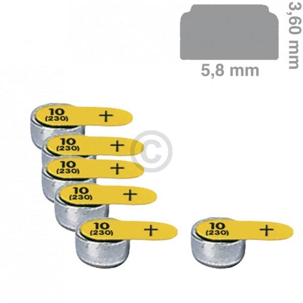 Europart Knopfzelle PR10 Panasonic, 6 Stück