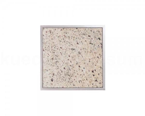 Einbau Granitfeld Verde Eukalyptus inkl. Edelstahlwanne 250 x 250 x 10 mm
