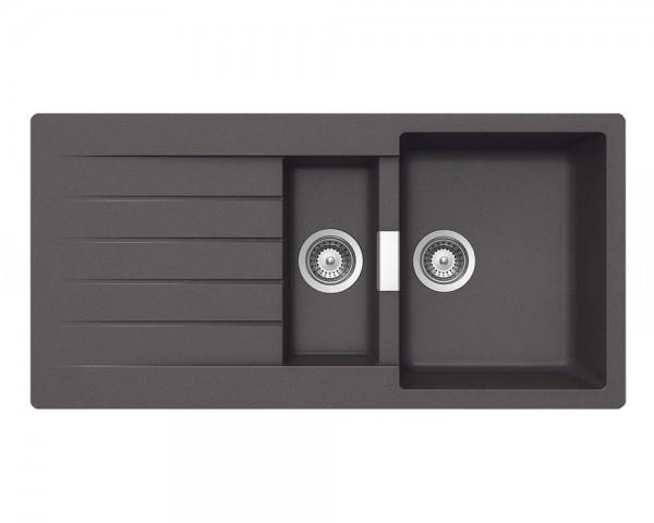 Schock Granitspüle Primus D-150 TITANIUM Becken mit Ablage 1000 x 500 mm