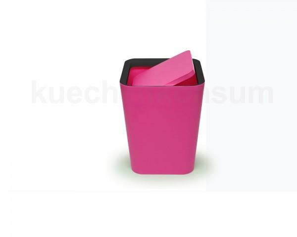 Papierkorb Mini Square Flip Bin Abfallsammler Pink 3,5 Liter