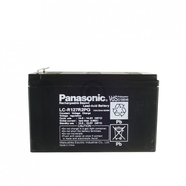 Panasonic Blei-Akku 12Volt 7200mAh Panasonic LC-R127R2PG