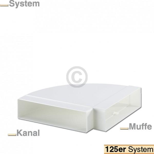 Europart Flachkanalbogen 125erF Naber 4021043 90° horizontal einseitige Muffe für 218x55mm Belüftung