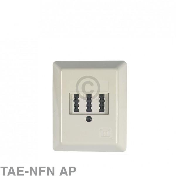 Europart Anschlussdose 3-fach TAE-NFN AP